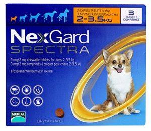 ネクスガードスペクトラ(超小型犬用/2〜3.5kg)